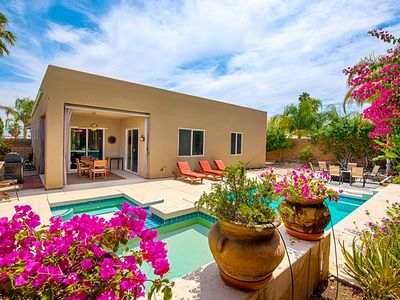 Cathedral City house rental - Completely private backyard with pool and spa.