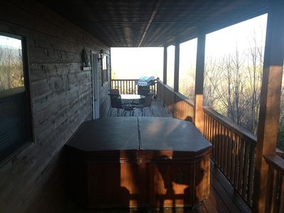 Relax in our 4 person hot tub and enjoy the views