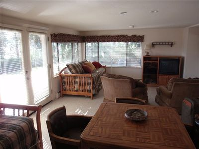 3rd Suite - Perfect for kids, 2 twins, 2 trundles, futon, TV & game table.