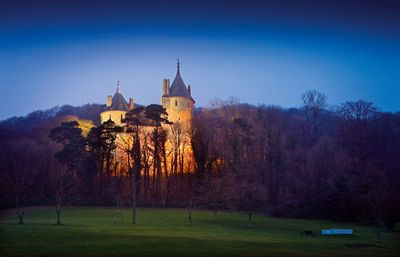 Castell Coch at night - 5 miles north of the city centre
