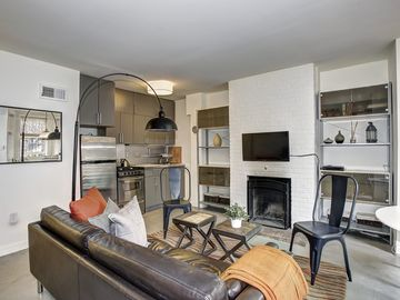 Capitol Hill apartment rental - Step into your living room.