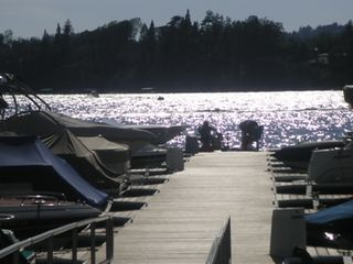 Lake Arrowhead cabin photo - the dock