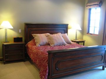 Master Suite with King Bed, Private Bath, TV and fabulous mountain views