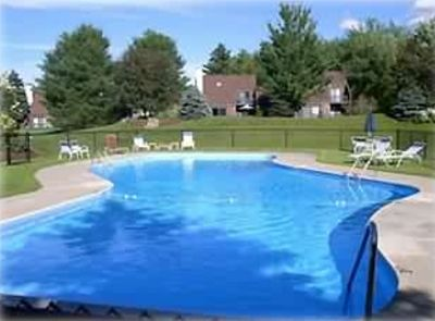 Stonybrook has 2 heated outdoor pools open Memorial Day thru Labor Day.