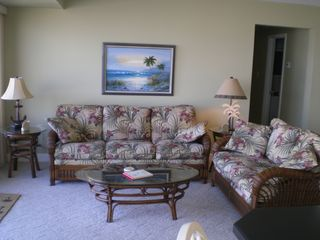 Capri Ocean City condo photo - Living room overlooking Ocean & Bay