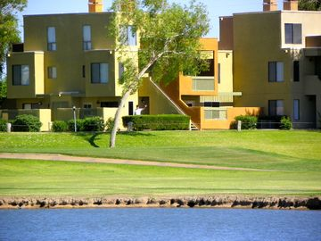 Old Town Scottsdale condo rental - Scottsdale, Sunscape Golf Course Condo seen from across lake