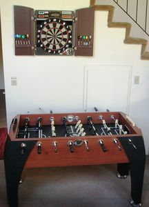 Challenge the friends & Family to play foosball