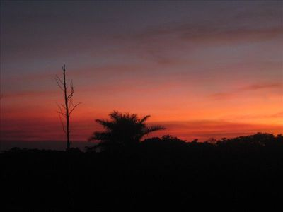 Another vibrant sunset from the casita. Enjoy  with a cold drink from the fridge