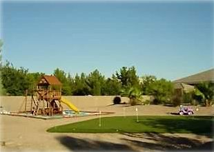One Acre-Childrens Play Gym-6 Hole Putting Green-Horseshoe & Fire Pit