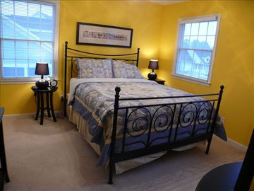 Third bedroom located on second floor with queen bed.