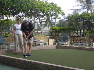 Putting Green on Recreation Deck