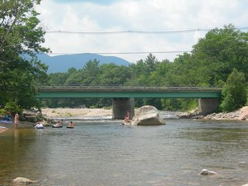 Town beach at Saco River. Walking distance from the house. We provide the tubes!