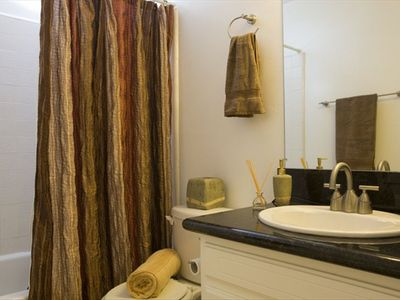 Bathrooms include a nice tub/shower combo and come with fresh towels.