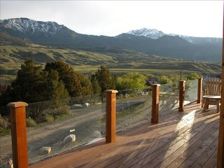Gardiner house photo - View into Yellowstone from Deck