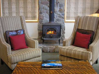 Ouray house rental - Wood stove for ambience, or it can heat the entire home if you choose.