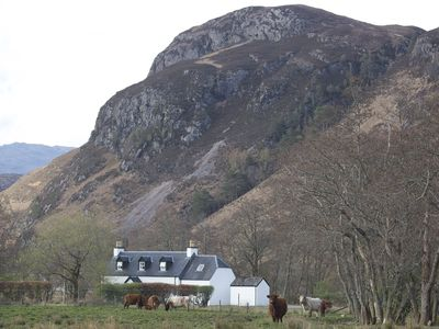 Mountain behind Attadale Holiday Cottages