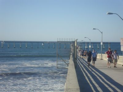 Walk to the end of the OB Pier