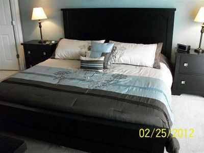 Master king bedroom suite with 20 inch flat screen and DVD