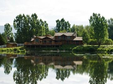 Heber City cabin rental - Gorgeous Cabin with large pond, basically at the door!