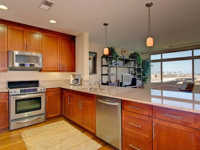 Gourmet Kitchen with granite counters and stainless appliances