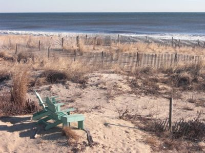 Enjoy afternoon cocktails in the Adirondack chairs in the dune
