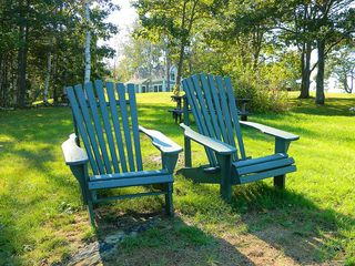 The chairs await ... just bring your binoculars. - Harpswell cottage vacation rental photo