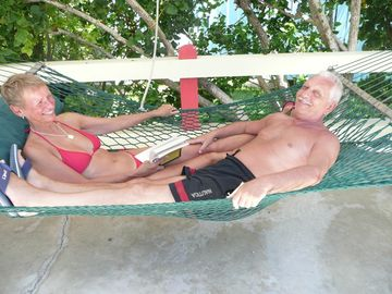 No need to fight for the hammock...share!