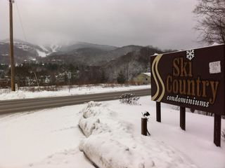 Entrance to Ski Country the slopes in background are Sugar Mountain