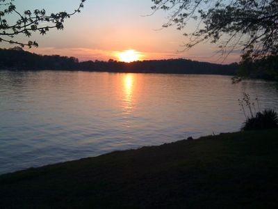 Moneta house rental - Enjoy the sunset from the front yard.