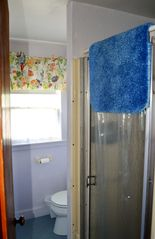 Marshfield cottage photo - Shower stall with an expandable shower head. Towels, toilet paper, soap supplied