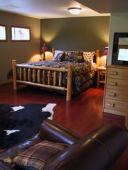 Bigfork cabin photo - Master Suite with Full bath - downstairs; Additional pictures on VRBO 267250