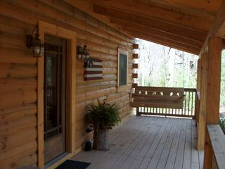 Front Porch for Swinging - Wears Valley cabin vacation rental photo