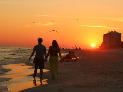 These are the best of times!!!   One of our beautiful sunsets over Gulf Shores .