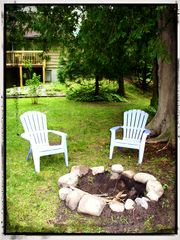 Indian River house photo - Fire pit right by the river