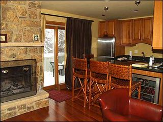 Aspen townhome photo - Kitchen area with access to deck