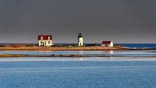 Kennebunkport cottage photo - Goat Island Lighthouse - close up