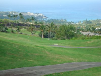 View looking down from the Kona Country Club mountain course.
