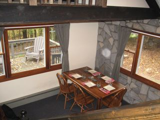 Margaretville cabin photo - Dining area looking down from the loft