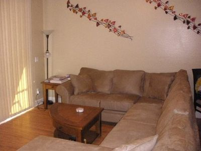"Family Room with comfy sectional to enjoy the 50"" TV"