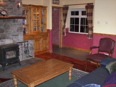 County Mayo house rental - Living room w/ woodburning stove