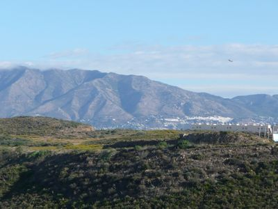 View From Side Of Terrace Over Mijas Hills