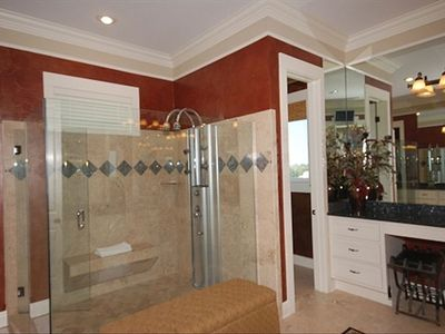 Only half of the Master Bathroom shown! Incredible shower