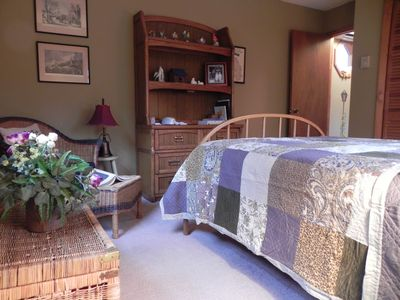 Maggie Valley cabin rental - The second bedroom is roomy enough for a queen bed.