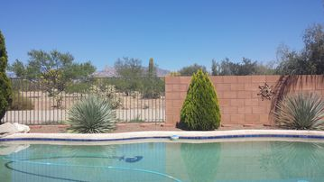 Tucson house rental - Catalina Mountain Views and privacy.