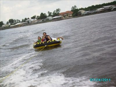 Tubing on the bay!