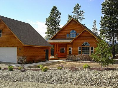 Lake Cle Elum house rental - Front of Evergreen Lodge in early Summer! - Front of the cabin during the Summer.
