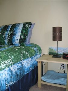 Juneau townhome rental - Fiddlehead Apartment -Twin Bedroom