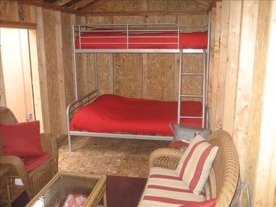 BUNK BEDS TWIN OVER A FULL SLEEPS  3