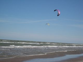 South Padre Island condo photo - Kite boarders in front of our complex.