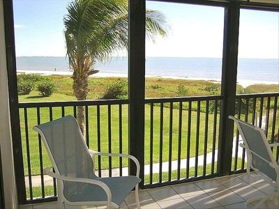 Sanibel Island condo rental - Beach View From Lanai - Relax and Enjoy Your Morning Coffee or Afternoon Drink.